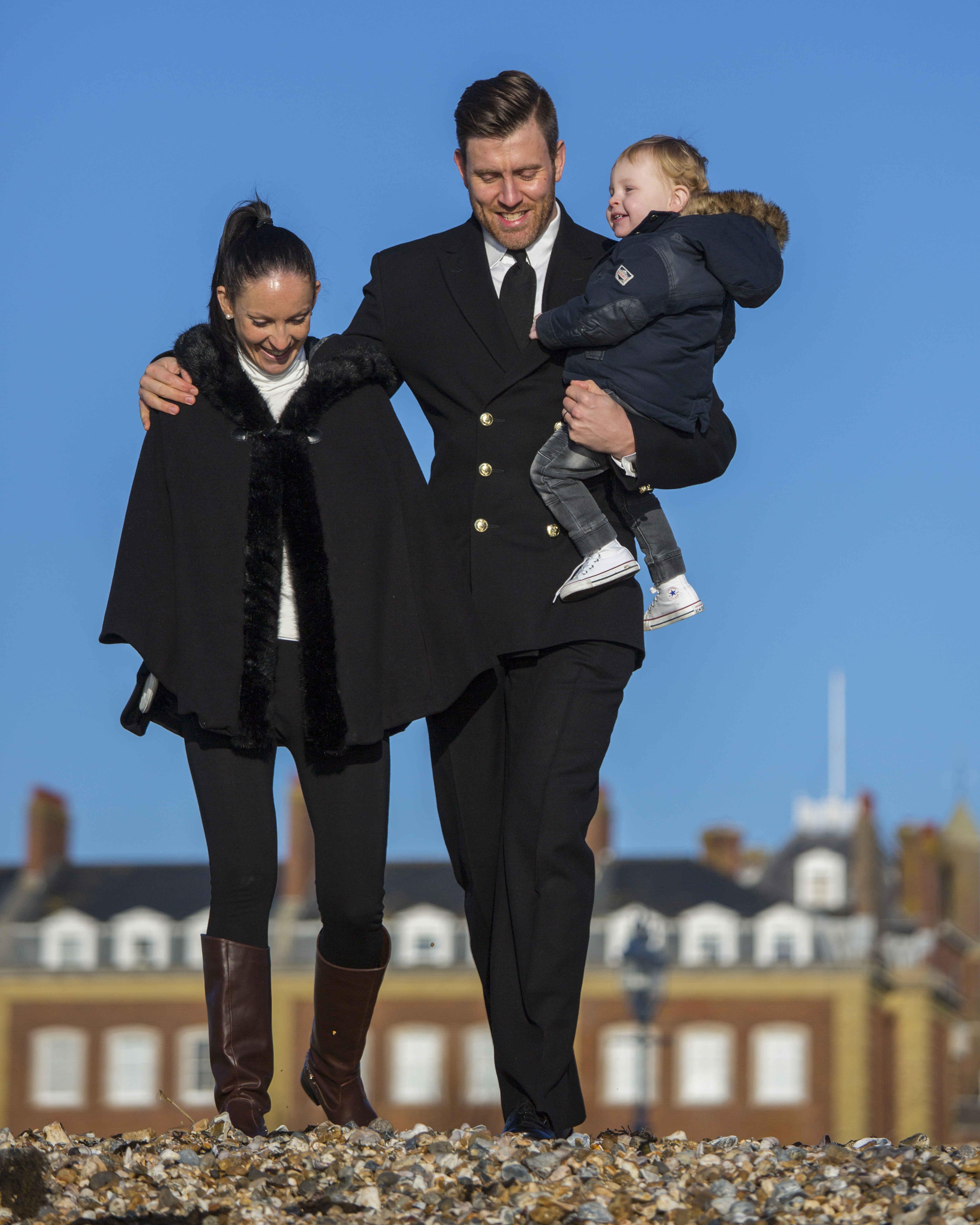 Images Of PO PT Jamie Stickley And His Family - Friday 15 Jan 2016  Images of POPT Jamie Stickley with his family in Portsmouth. Josey and Parker along with Jamie all gave consent and forms held at DDC.